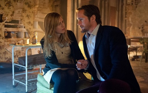 "Brit-Marling-Alexander-Skarsgard-as-""Benji""-on-the-set-of-THE-EAST"